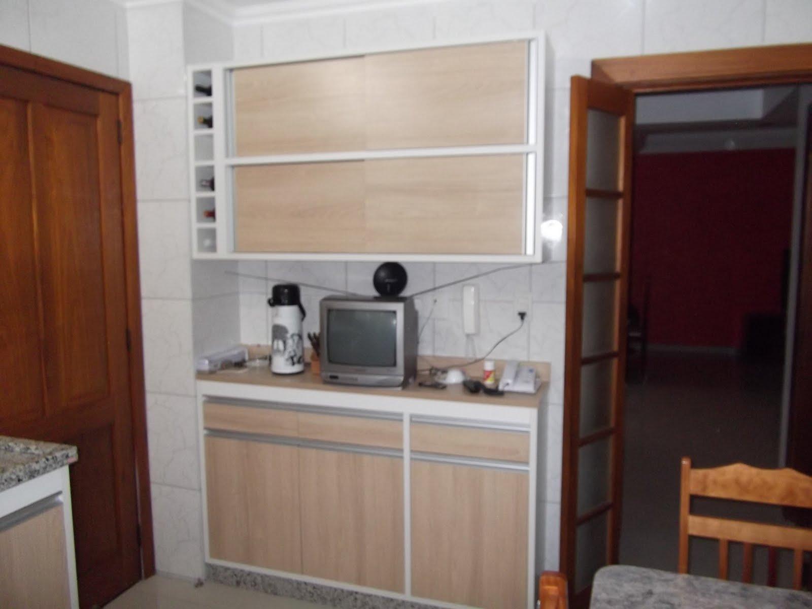 Móveis Borges: Cozinha em MDF Branco 25 mm com portas e frentes MDF  #673720 1600 1200