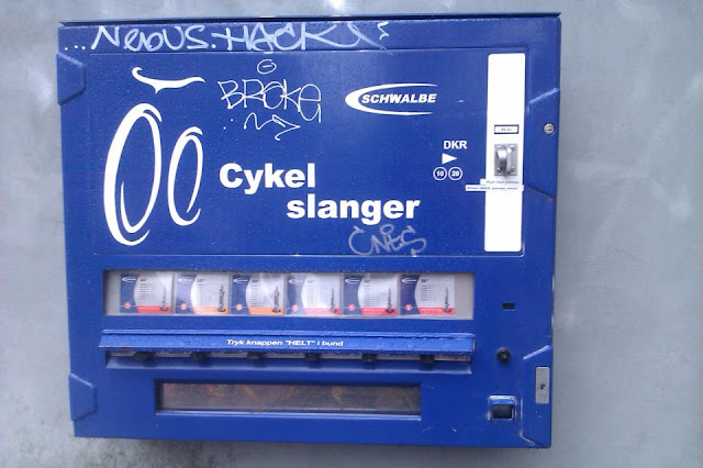 Bike tube dispenser