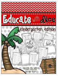 http://www.teacherspayteachers.com/Product/Educate-With-Dice-Kindergarten-Edition-1325079