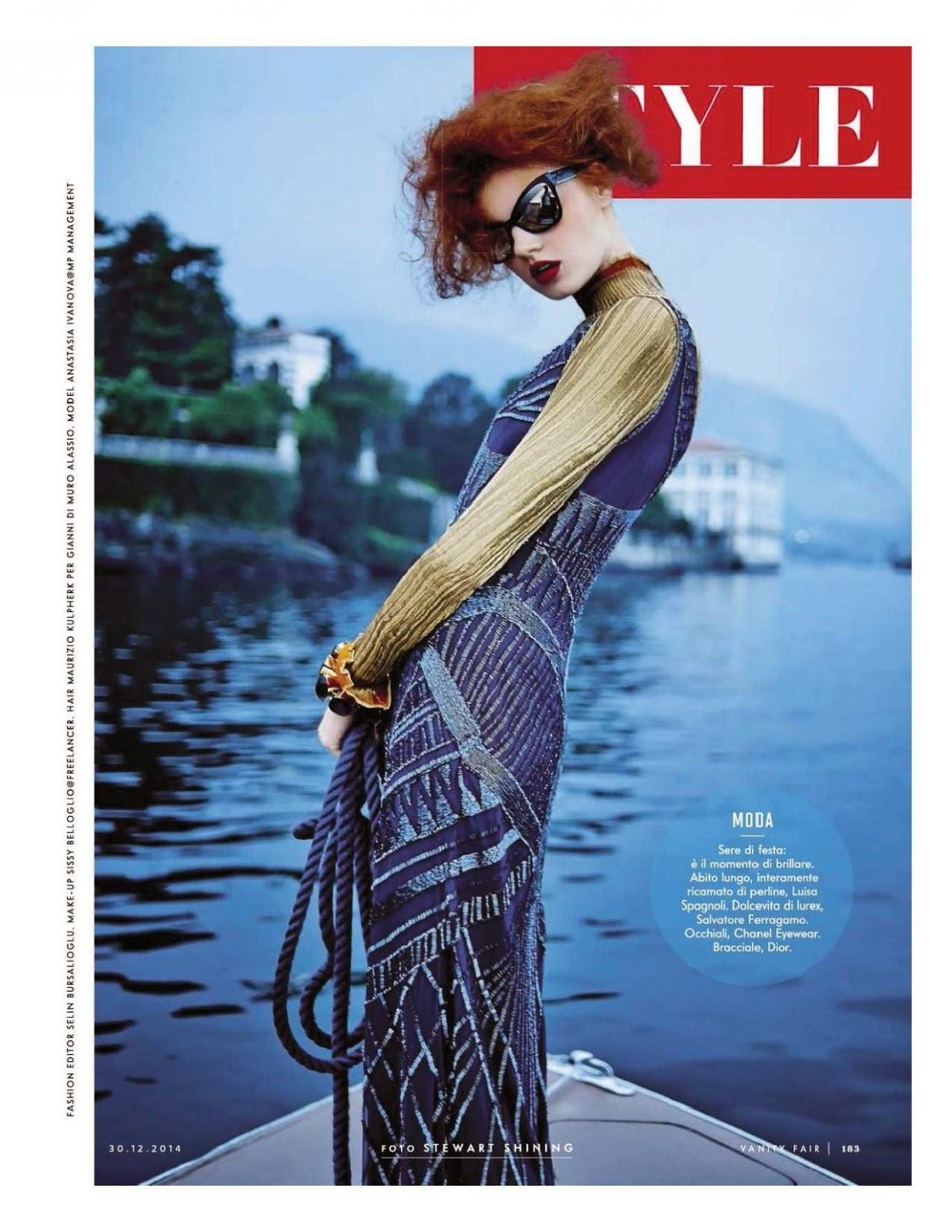 صور الموديل اناستازيا ايفانوفا في مجلة Vanity Fair الايطالية