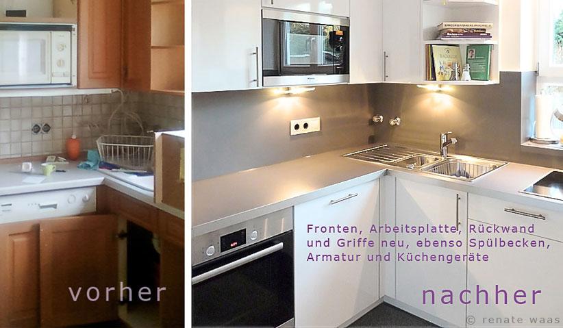 wir renovieren ihre küche  kueche modernisieren  fronten  ~ Spülbecken In Arbeitsplatte Einbauen