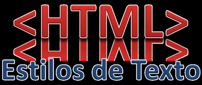 HTML, Estilos de Texto