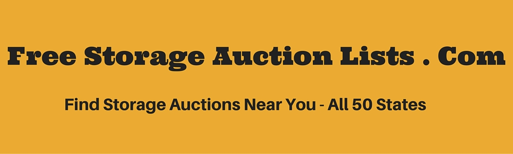 Free Storage Auction Lists