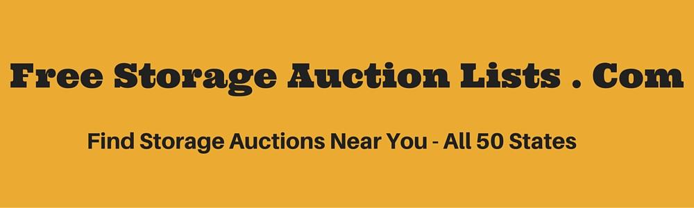 Free Storage Auction Lists
