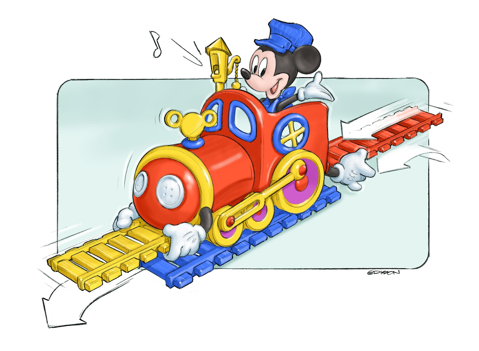 What i do mickey 39 s magic choo choo for Disney mickey mouse motorized choo choo train with tracks