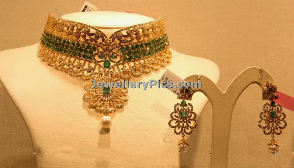 Designer bridal diamond choker
