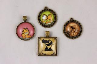 Biżuteria naszyjniki – brąz antyczny + kaboszon szklany