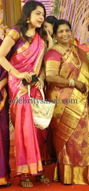 Anchor Ramya Light Pink Saree