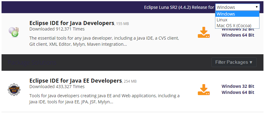 télécharger Eclipse java