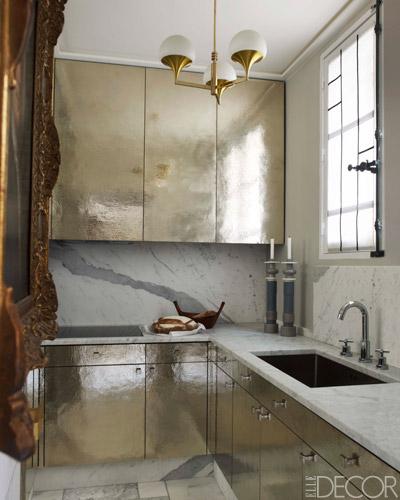 metallic cabinets, modern design