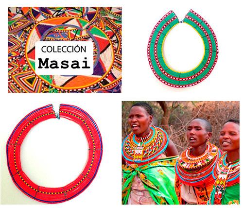 Tienen pulseras, collares, aros, cinturones y diademas con muchos colores que contrastan con la tierra roja de África y que siguen y seguirán inspirando