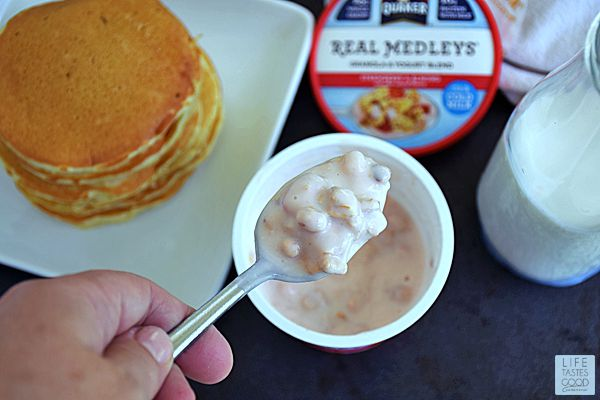 Yogurt Parfait Pancakes | by Life Tastes Good make a scrumptious breakfast that fills us up deliciously and keeps us going all morning long.