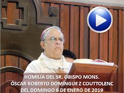 VIDEO DE LA HOMILÍA DEL SR. OBISPO, DEL DÍA  6 DE ENERO DE 2019