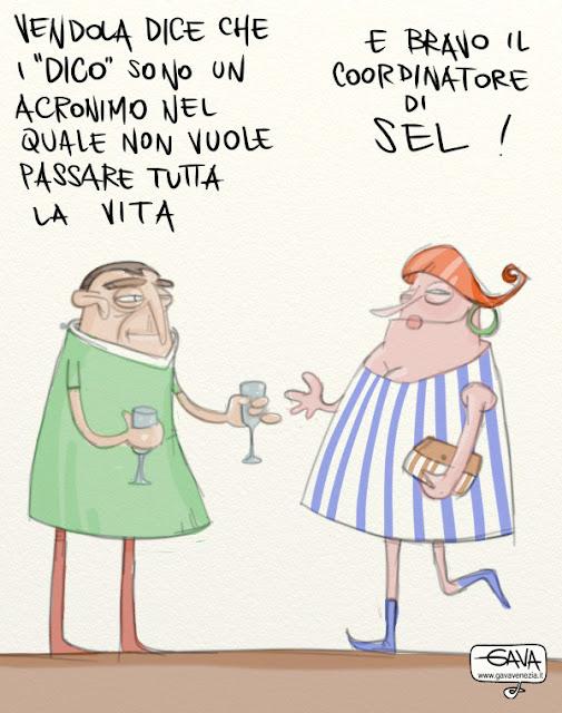 Gava satira vignette Vendola SEL