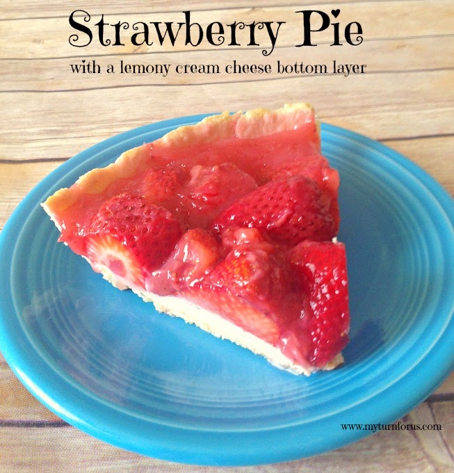 This strawberry pie recipe has a special twist, a lemony cream cheese ...