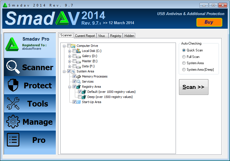 SmadAV Pro 2014 Rev 9.6.1 Full Serial Key Update Terbaru Gratis