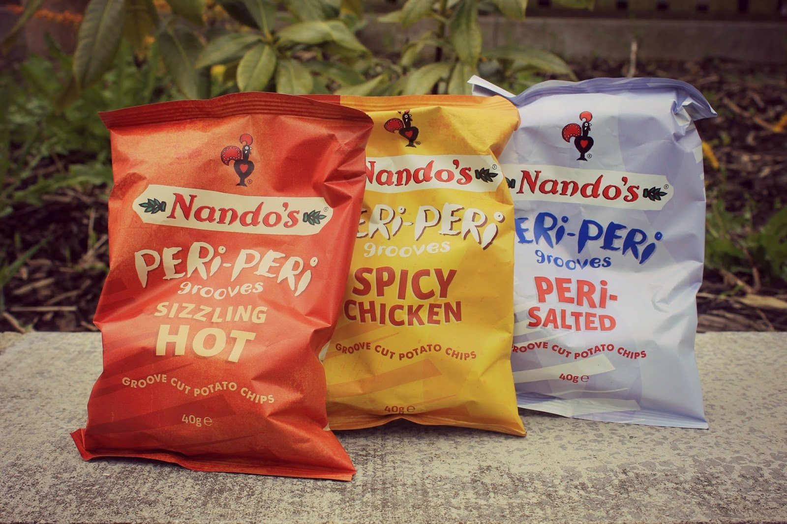 Spicy crinkle cut crisps from nandos