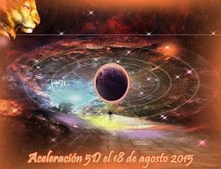 El próximo 18 de agosto de 2015, la Madre Tierra tendrá una aceleración que la moverá más cerca de su transformación en una Nueva Tierra, un planeta Creador de la Quinta Dimensión.
