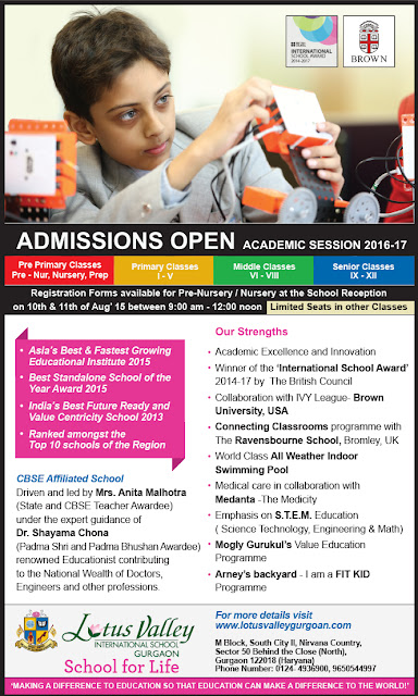 ADMISSION Open - ACADEMIC SESSION 2016-17