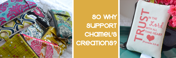 Chamel's Creations::Supporting Chamel's Creations