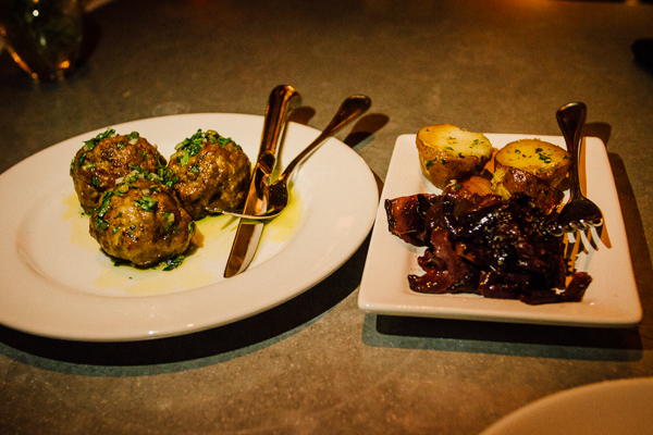 Meatballs at  Alleia in Chattanooga, Tennessee
