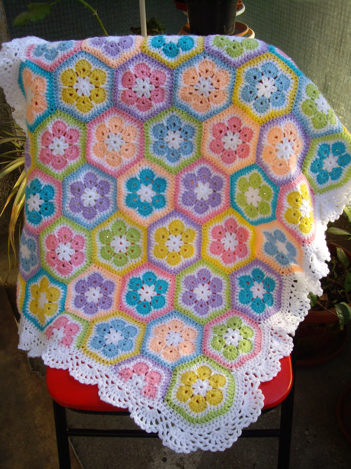Crocheting A Baby Quilt : Blanket-baby-crochet-blanket-colorful-knitting-patchwork-afghan.jpg