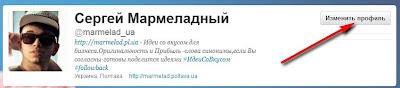 Редактирование профиля аккаунта в Twitter