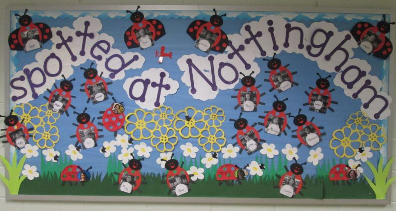 Counseling blog welcome bulletin board for new students and staff