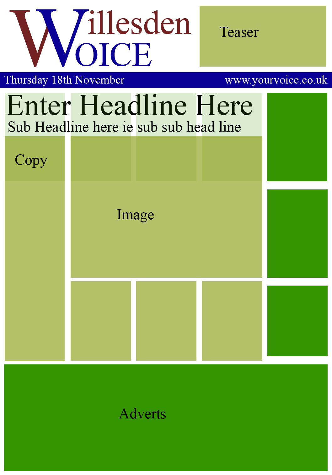 Blank Newspaper Front Cover Template