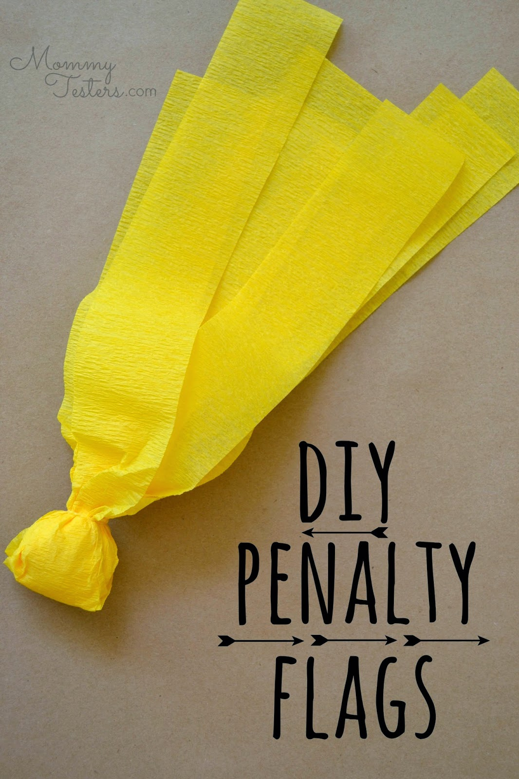 Mommy Testers, DIY Penalty Flags, Football penalty flags, How to make penalty flags, Easy penalty flags,