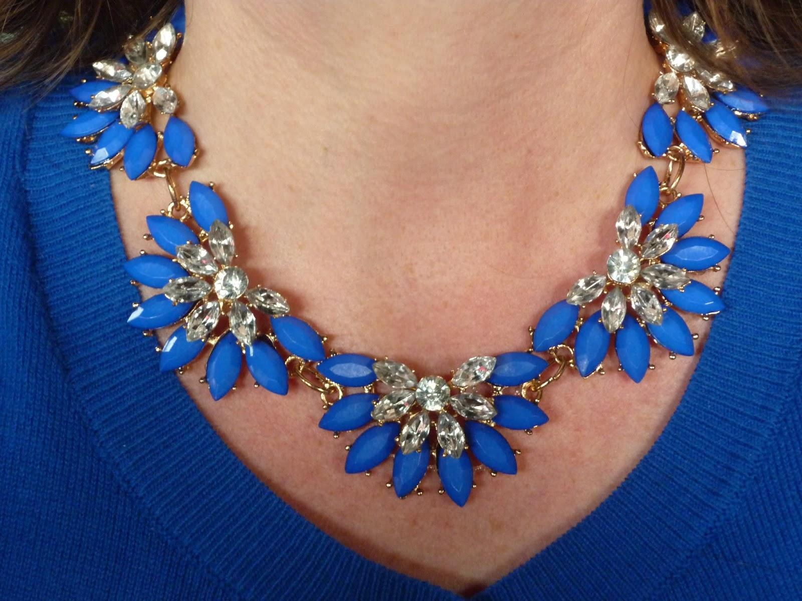 Yosa Blue Oceana Necklace | Petite Silver Vixen