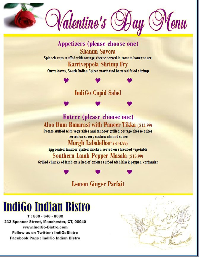 Emerging Foodie Dining Out Valentine S Day Edition Indigo Indian