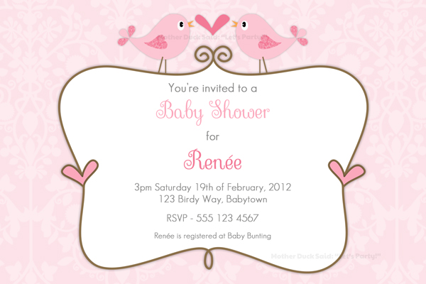 Mother Duck Said Lets Party Little Birdie Baby Shower