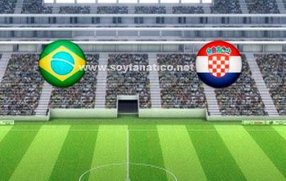 Brasil vs Croacia en partido Inauguracion Mundial 2014