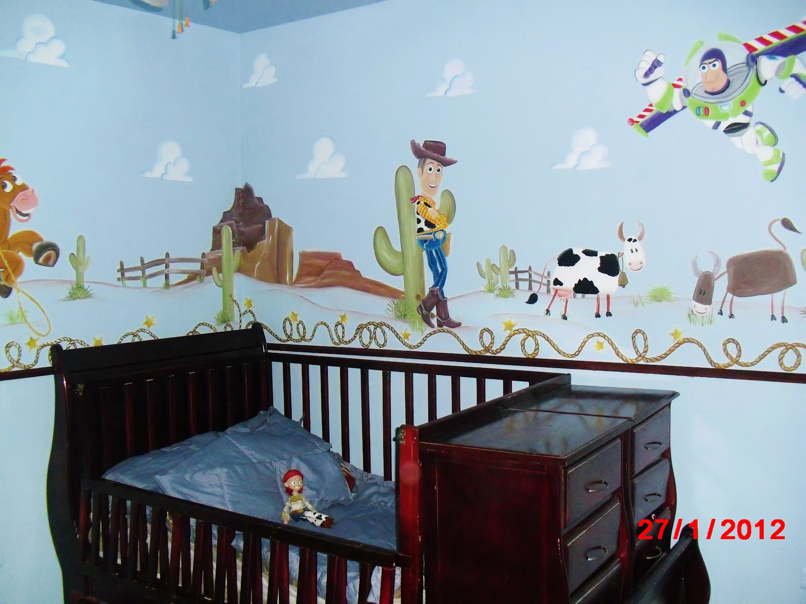 murales infantiles dormitorio toy story woody bozz