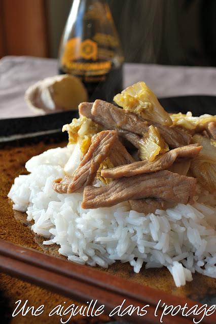 ginger pork cabbage stir fry