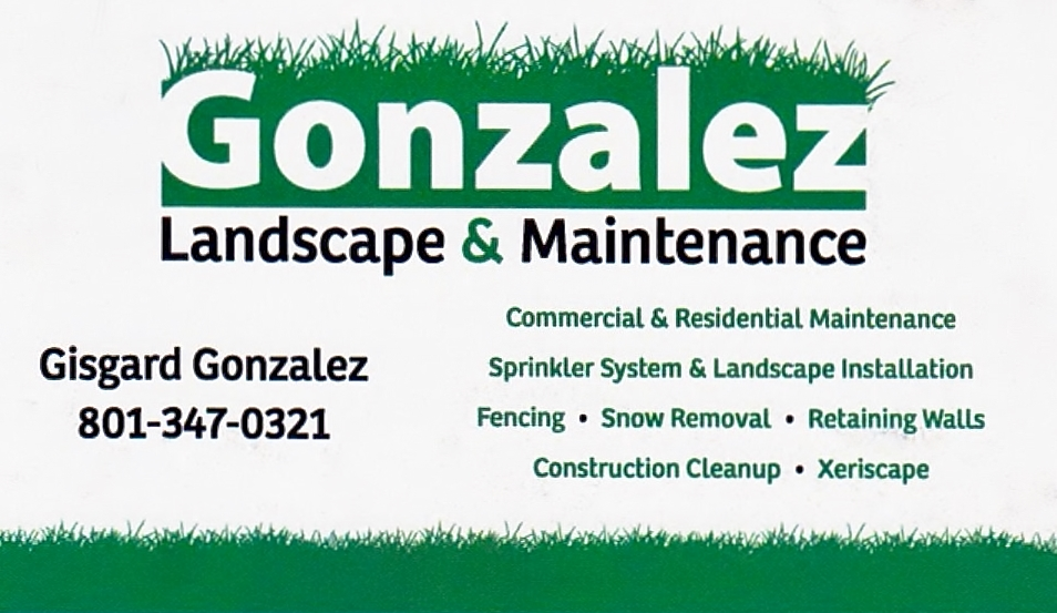 Gonzalez landscape maintenance salt lake city utah for Landscaping companies