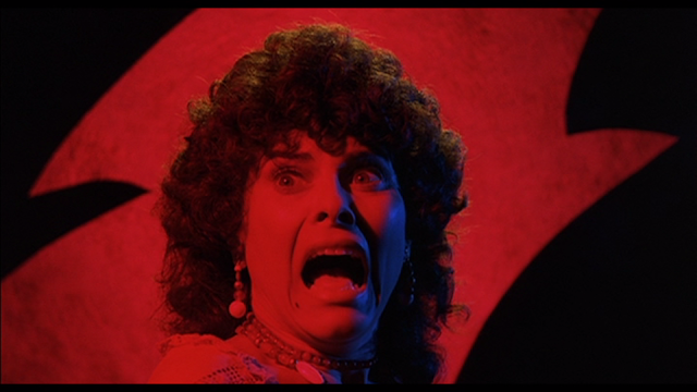 CREEPSHOW (1982): Billie (Adrienne Barbeau) sees the thing in the crate.