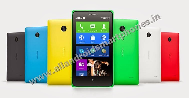 Nokia X Plus 3G Dual Sim Android Smartphone Bright Green Bright Red Cyan Yellow Black White Color Front Back Side Photos Images Review