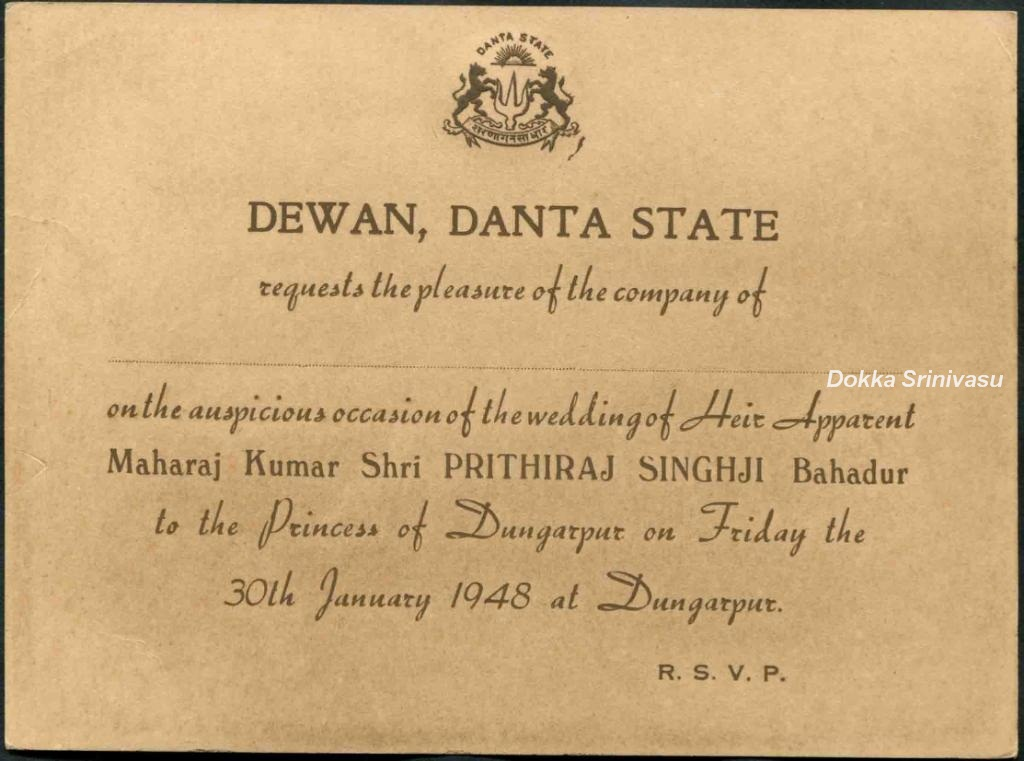 Heritage of india vintage invitation cards of india this is his highness the maharaja of jaipur vintage marriage invitation card of the year 1966 on the occasion of his son major maharaj kumar bahadur stopboris Image collections