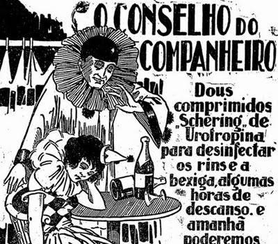 Propaganda do Schering de Urotropina (Desinfetar Bexina) em  1925