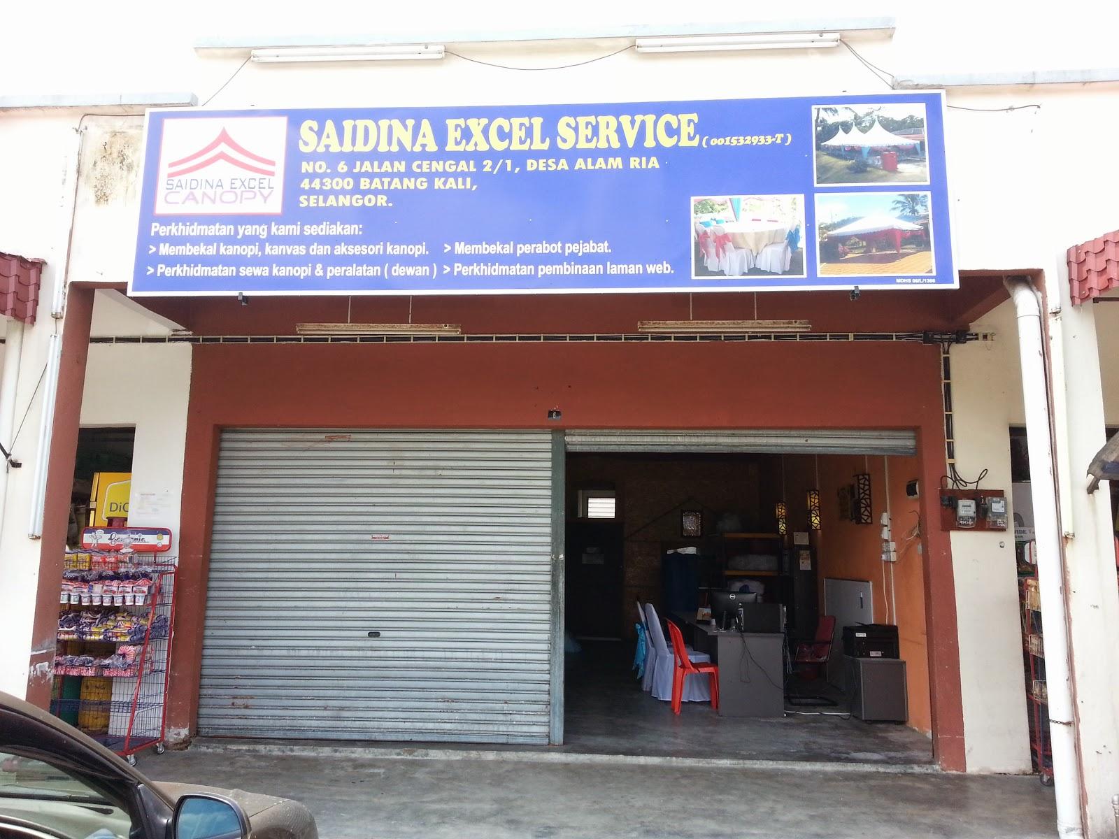 Alamat dan lokasi Saidina Excel Canopy