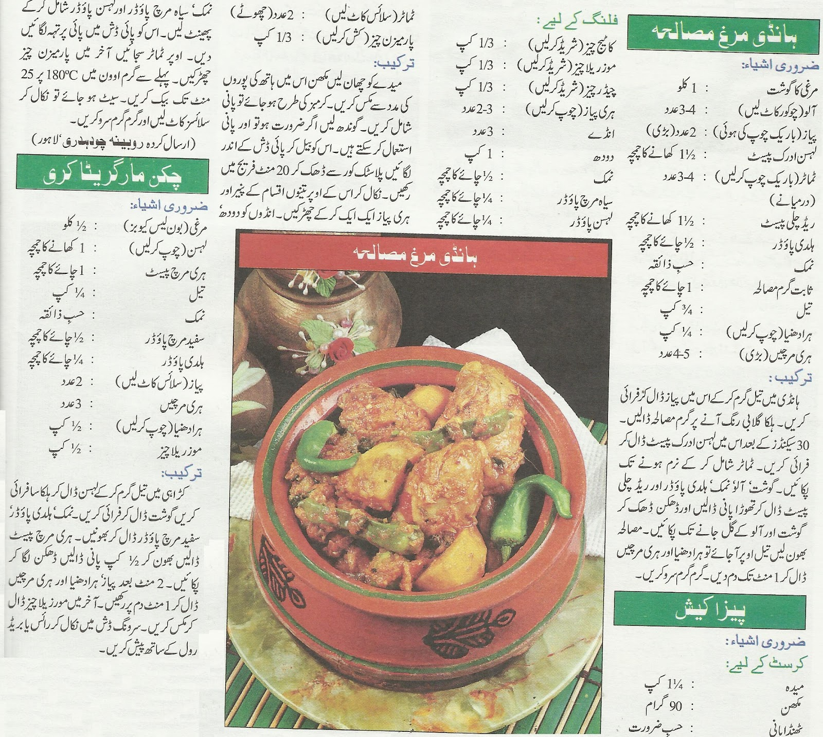 New Recipes in Urdu