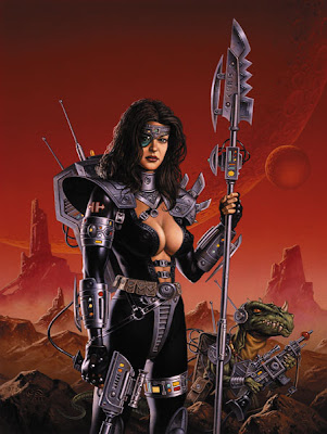 future warrior women heavy metal fantasy art
