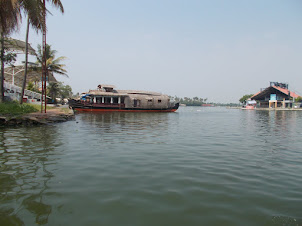 Allapuzha to Kanjiram by local passenger boat.