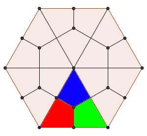Dividir un hexágono en 18 partes