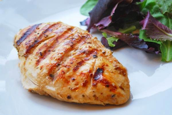 how to cook bone in chicken breast on the grill
