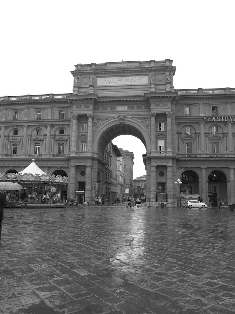 Piazza dell Republica. Florence, Italy.