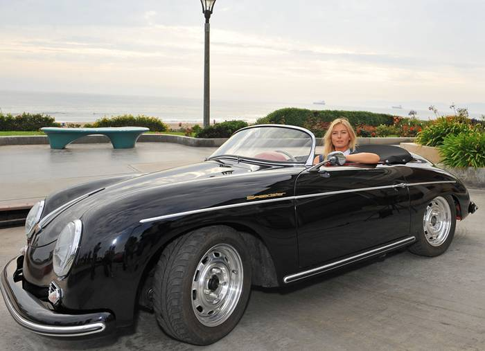 Tennis star and Porsche brand ambassador Maria Sharapova was in California recently for a photo shoot with a pair of the German automaker's finest convertibles from past and present.