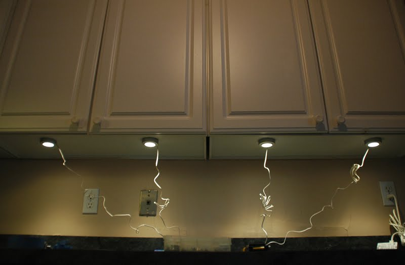 String Lights For Under Cabinets : Our Tiny Oak Park Bungalow: Under-cabinet Lighting